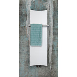 Designer Bone Style 1200 mm High x 300 mm Wide Heated Towel Rail Radiator White - Elegant Radiators