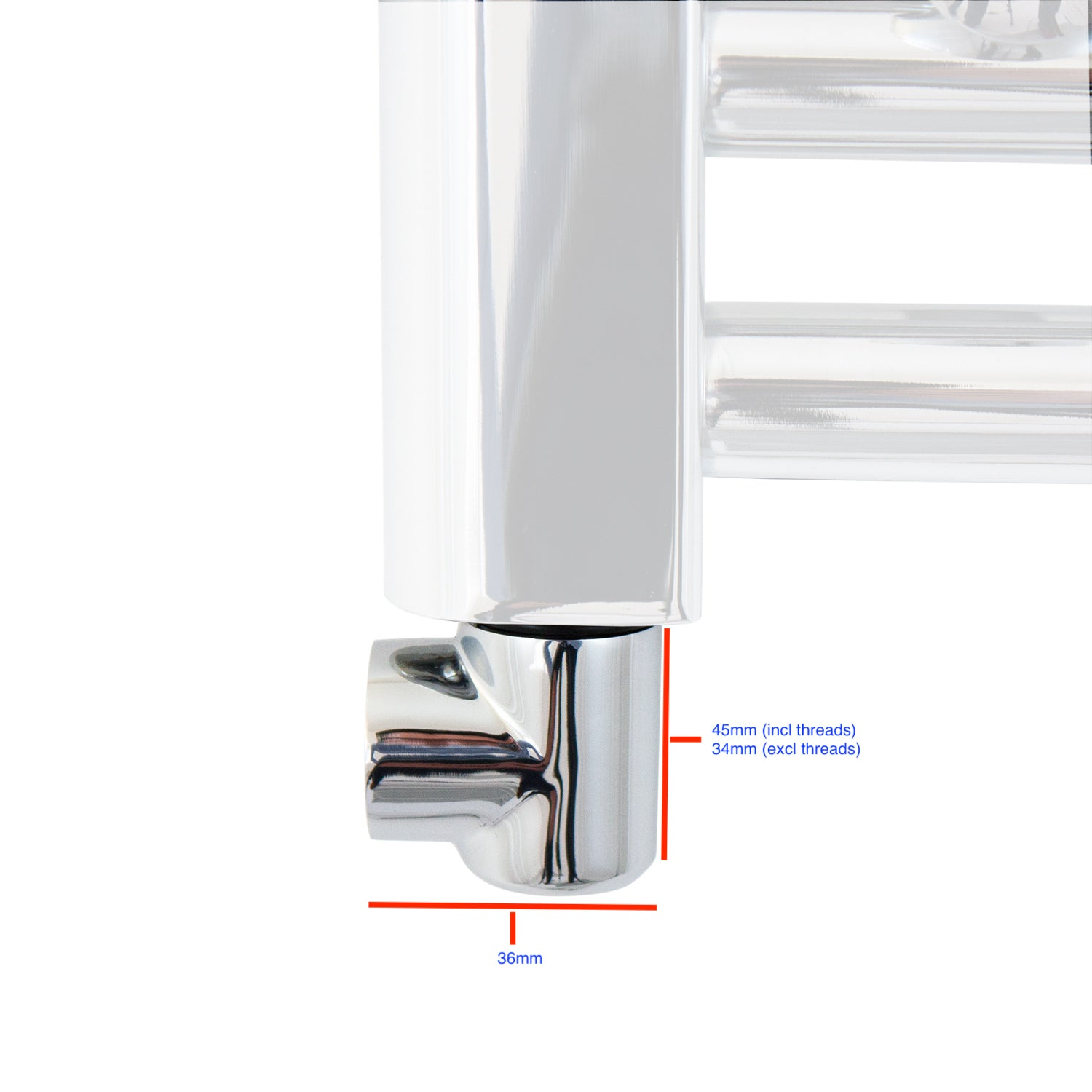 Chrome Elbow Measurements For Towel Rail Radiator