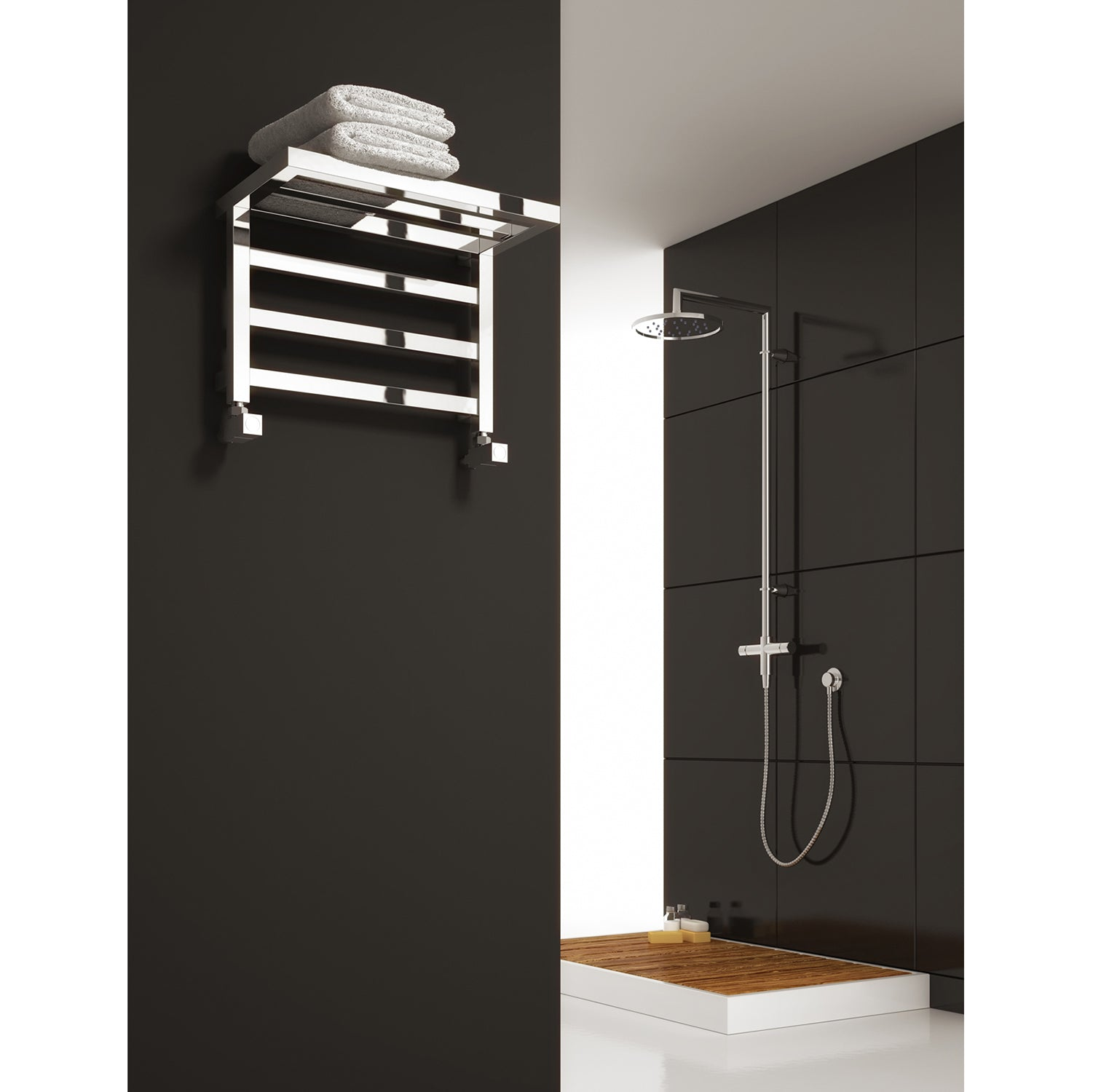 Reina Elvina Designer towel warmer Shelve