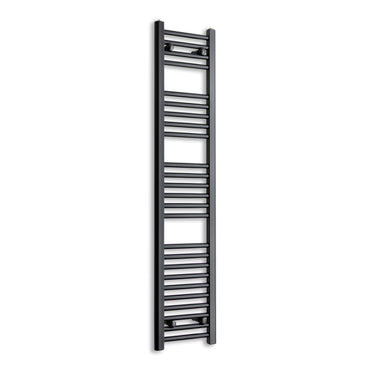 1400 mm High x 300 mm Wide Heated Towel Rail Radiator Flat Black