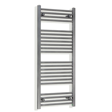 1200 mm High 500 mm Wide Heated Flat Towel Rail Radiator Anthracite Central heating or Electric