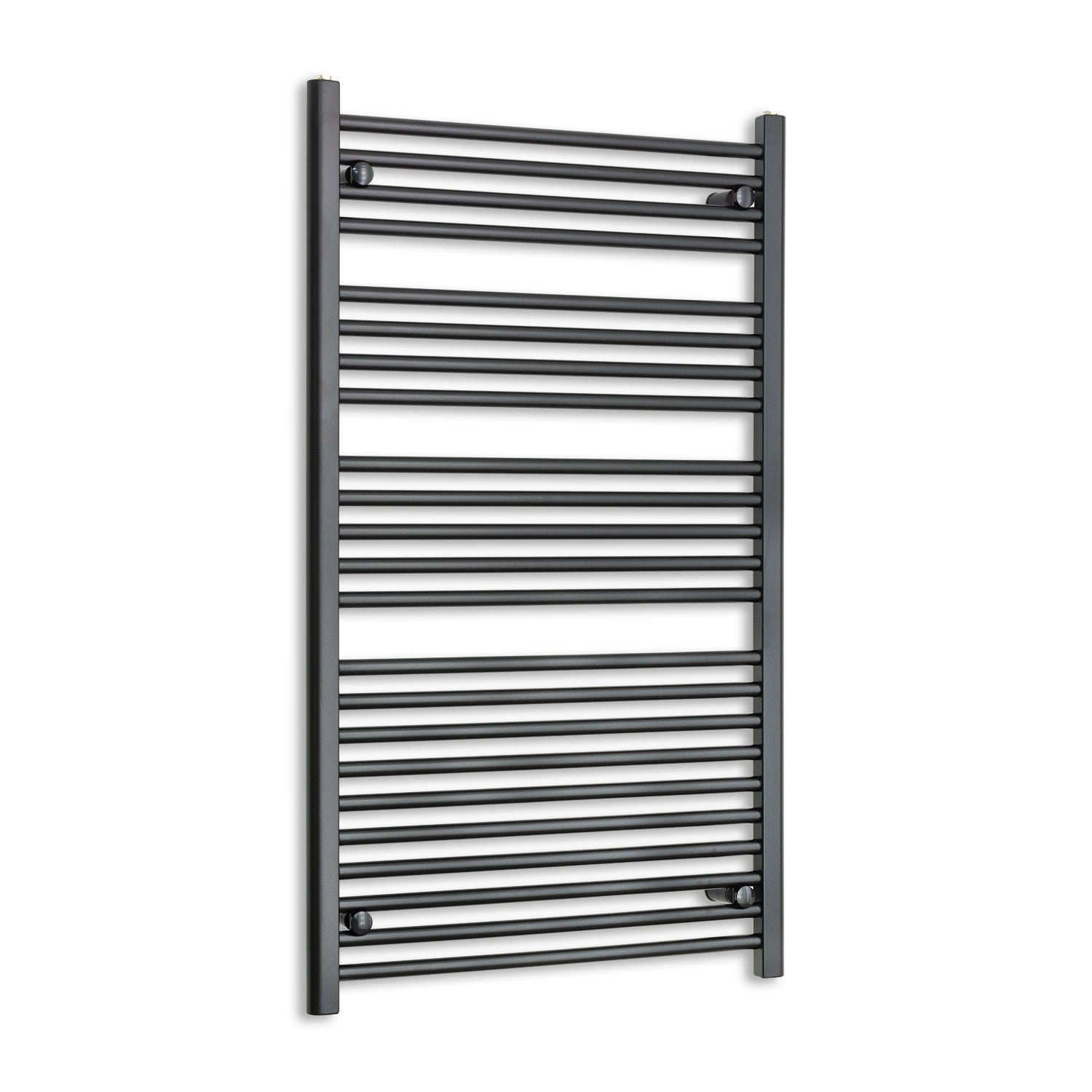 700mm Wide 1200mm High Black Towel Rail Radiator