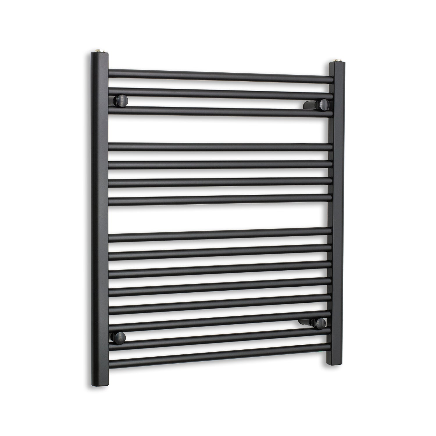 700mm Wide 800mm High Black Towel Rail Radiator
