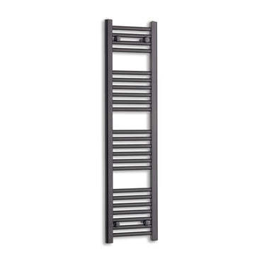 300mm Wide 1200mm High Black Towel Rail Radiator