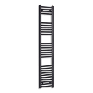 300mm Wide 1600mm High Black Towel Rail Radiator
