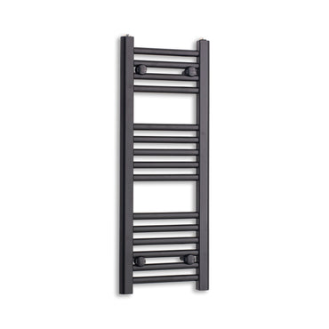 300mm Wide 800mm High Black Towel Rail Radiator