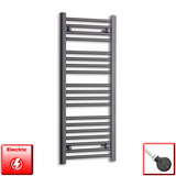400mm Wide 1000mm High Pre-Filled Black Electric Towel Rail Radiator With Thermostatic DIGI Element