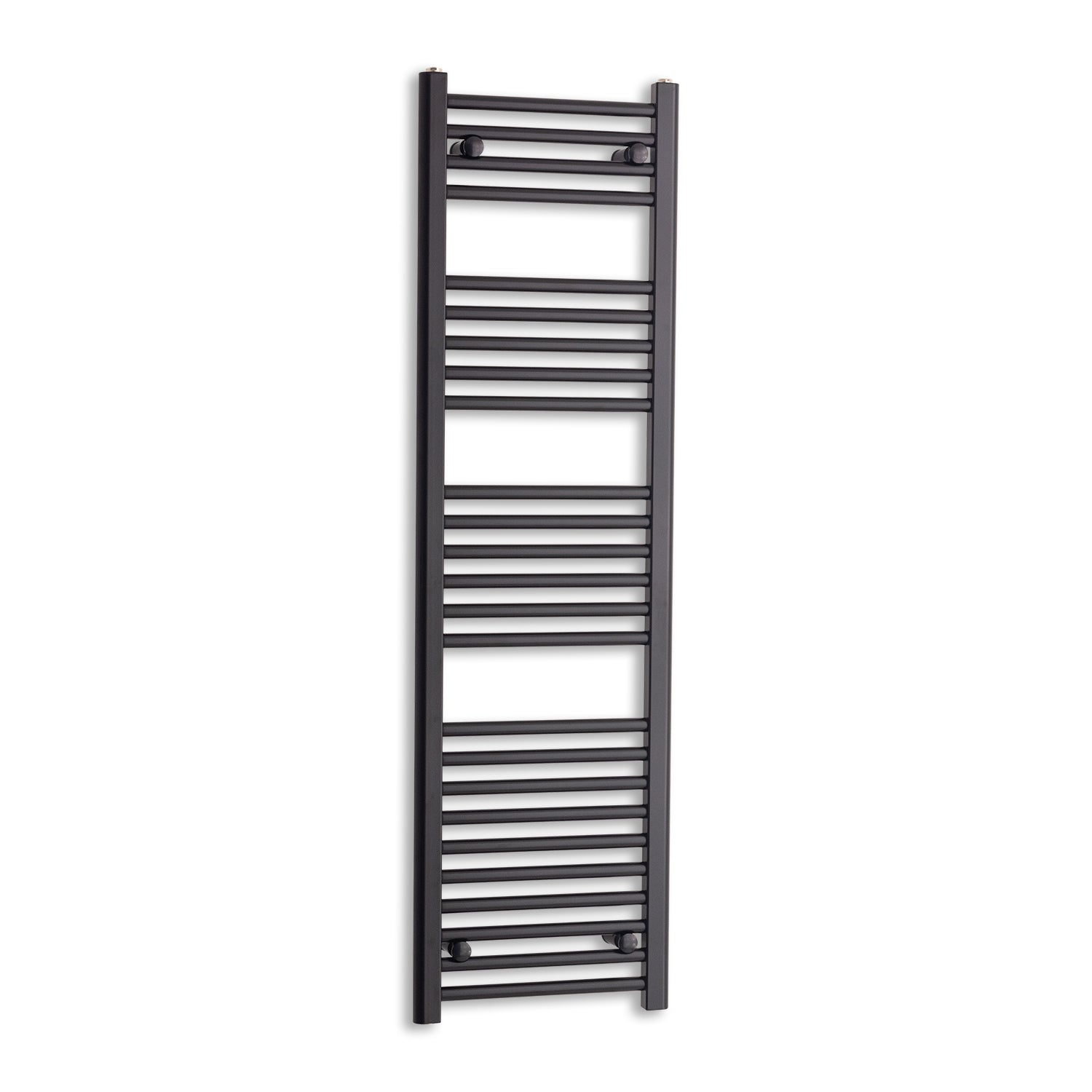 400mm Wide 1400mm High Black Towel Rail Radiator