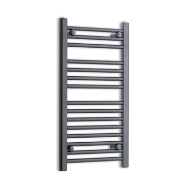 400mm Wide 800mm High Black Towel Rail Radiator
