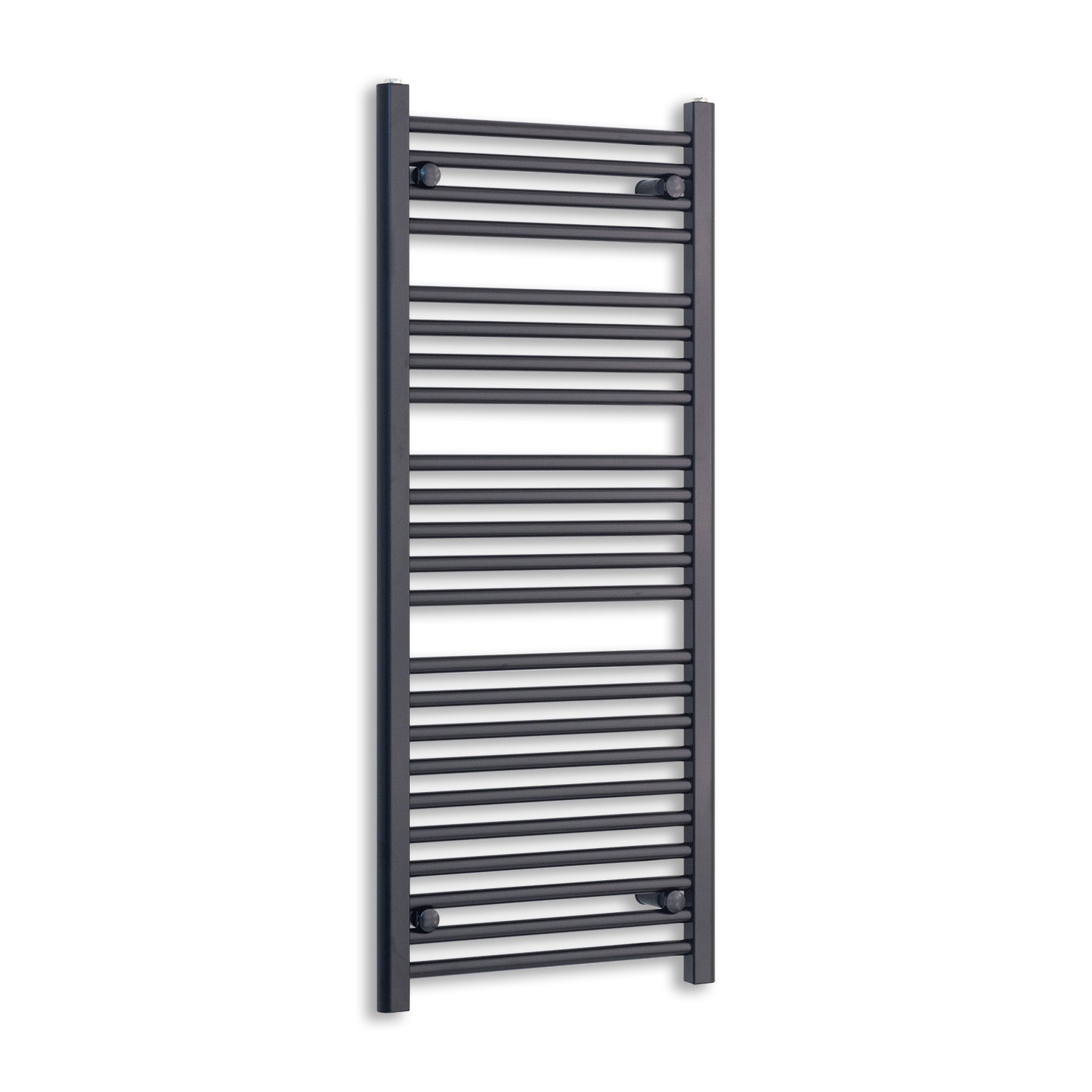 600mm Wide 1200mm High Black Towel Rail Radiator