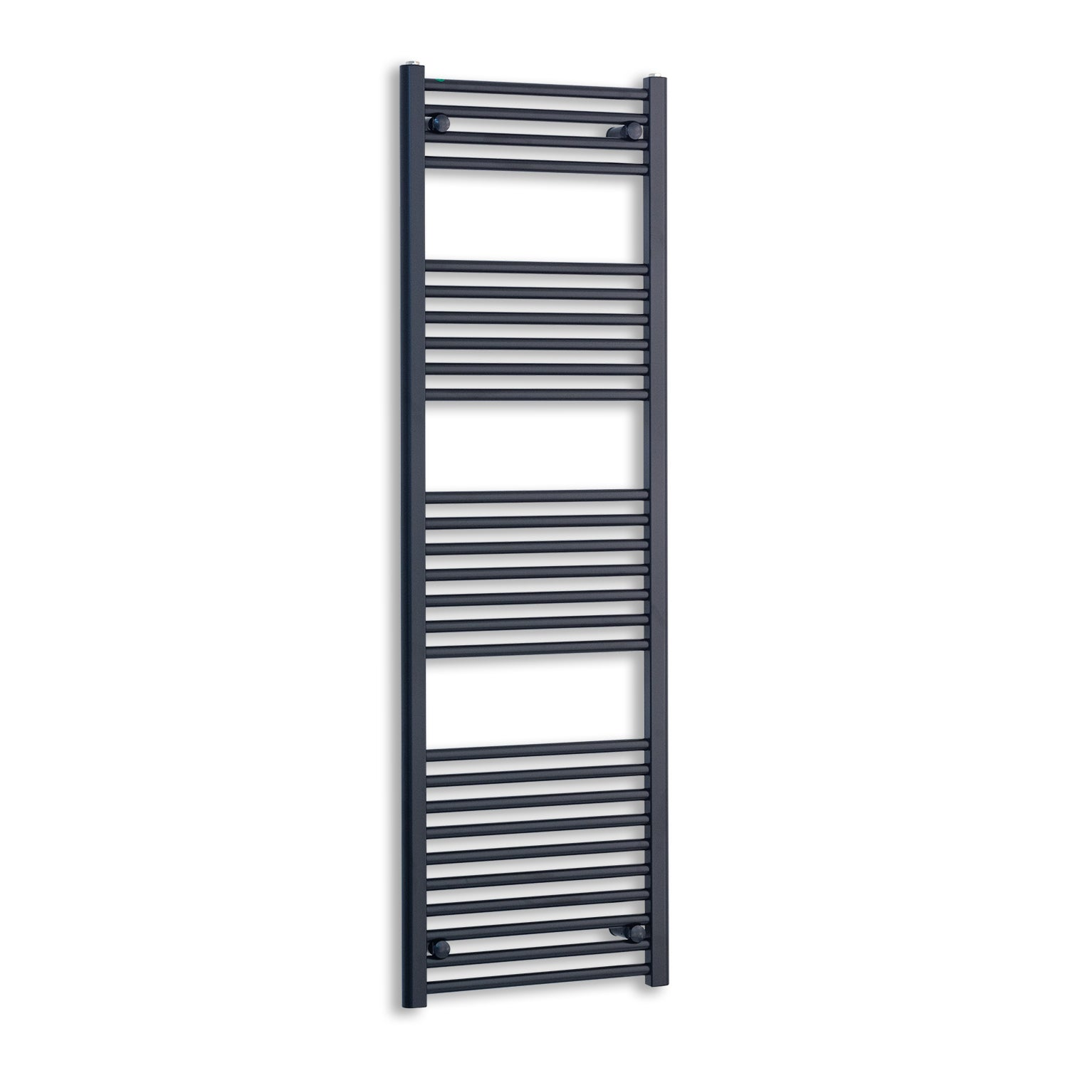 500mm Wide 1600mm High Black Towel Rail Radiator