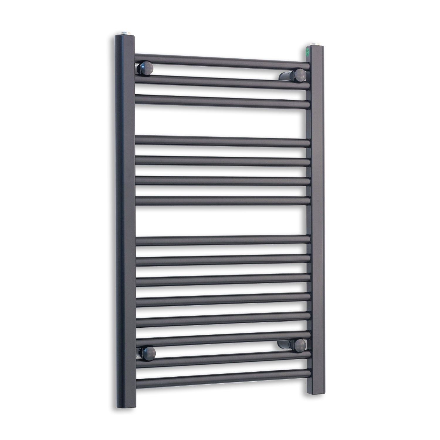 450mm Wide 800mm High Black Towel Rail Radiator