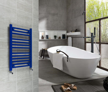 500 mm Wide Designer Heated Towel Rail Radiator Red, Blue or Yellow - Elegant Radiators