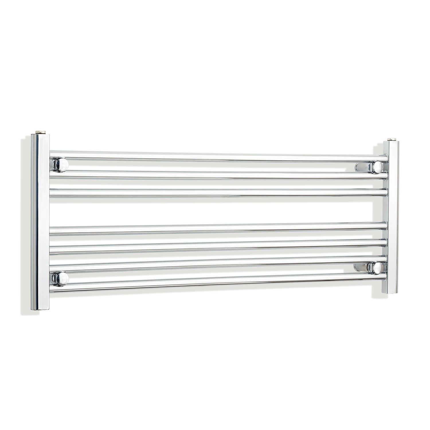 1300mm Wide 400mm High Chrome Towel Rail Radiator