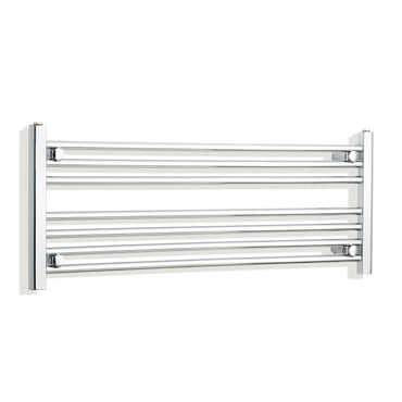 1100mm Wide 400mm High Chrome Towel Rail Radiator