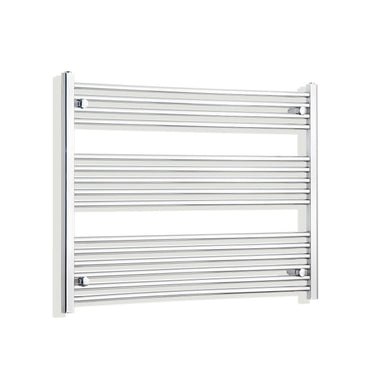 1200mm Wide 800mm High Chrome Towel Rail Radiator