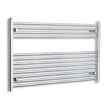 700 mm High x 1200 mm Wide Heated Straight Towel Rail Radiator Chrome