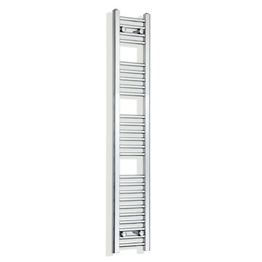 250mm Wide 1400mm High Chrome Towel Rail Radiator