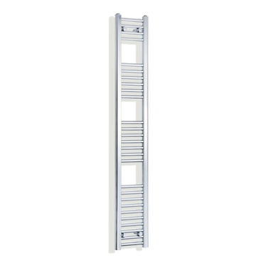 250mm Wide 1600mm High Chrome Towel Rail Radiator