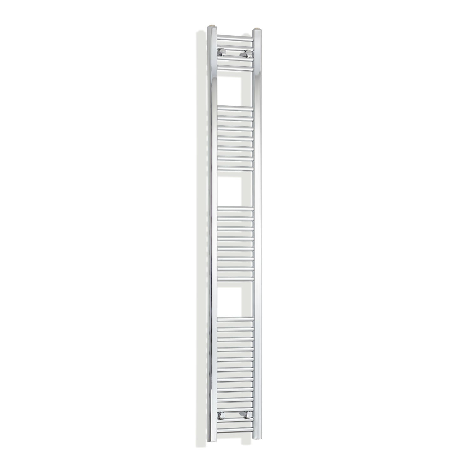 200mm Wide 1800mm High Chrome Towel Rail Radiator