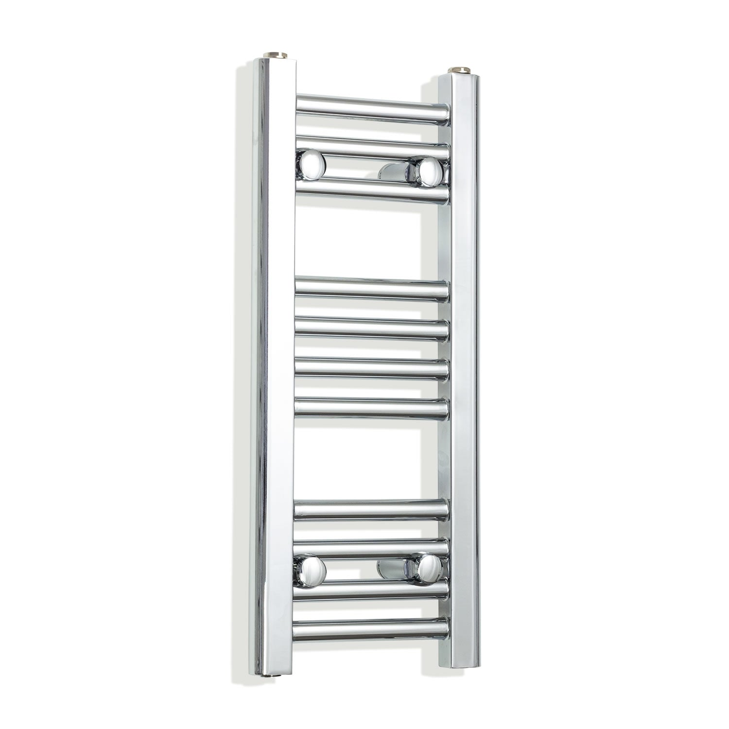 250mm Wide 600mm High Chrome Towel Rail Radiator