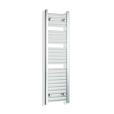 350mm Wide 1200mm High Chrome Towel Rail Radiator