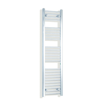 350mm Wide 1400mm High Chrome Towel Rail Radiator