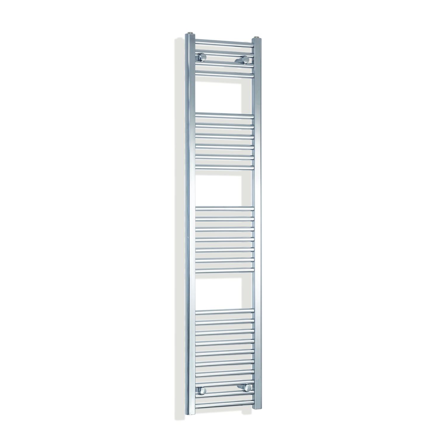 350mm Wide 1600mm High Chrome Towel Rail Radiator