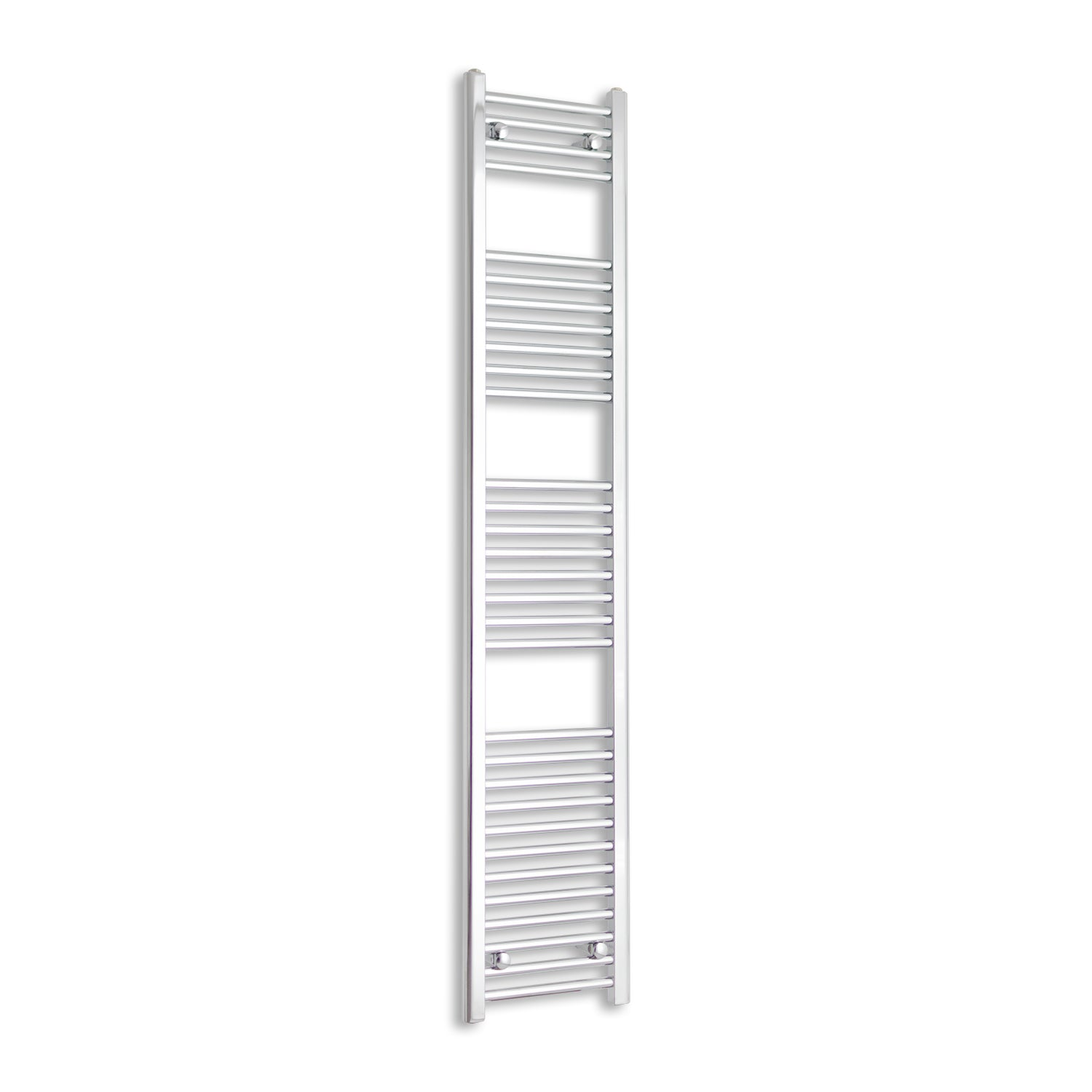 300mm Wide 1800mm High Chrome Towel Rail Radiator