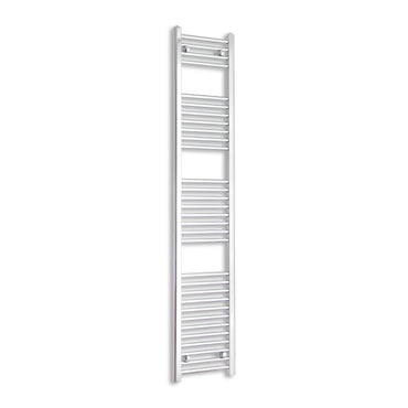 350mm Wide 1800mm High Chrome Towel Rail Radiator With Straight Valve