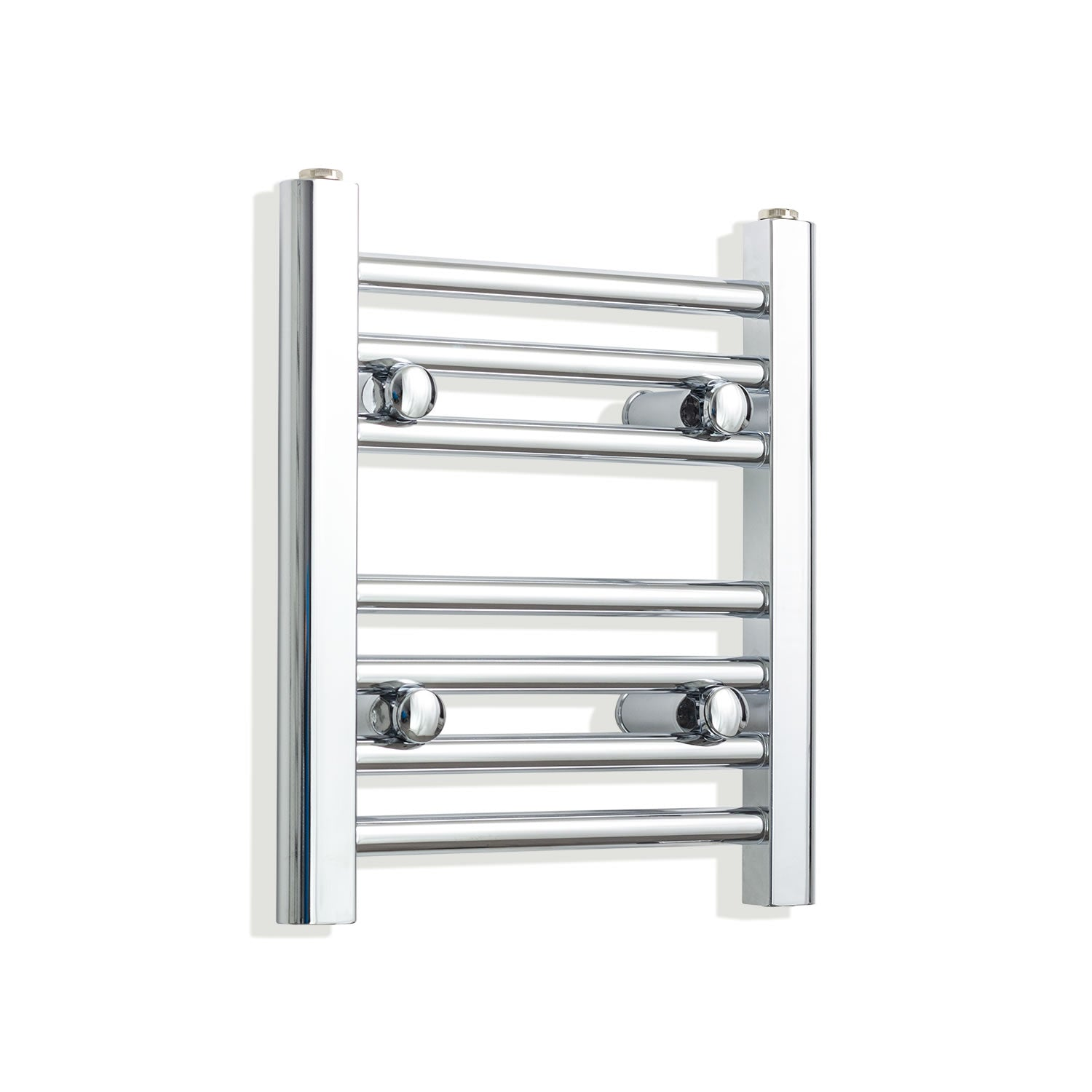 350mm Wide 400mm High Chrome Towel Rail Radiator