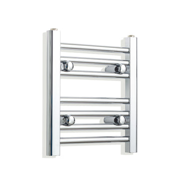 300mm Wide 400mm High Chrome Towel Rail Radiator