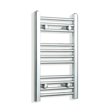 350mm Wide 600mm High Chrome Towel Rail Radiator