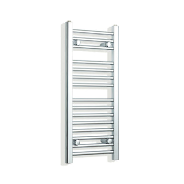 300mm Wide 800mm High Chrome Towel Rail Radiator