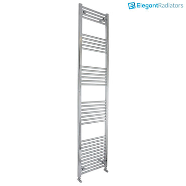 2000mm High 350mm Wide Heated Straight Towel Rail Radiator Chrome 2 meter - Elegant Radiators