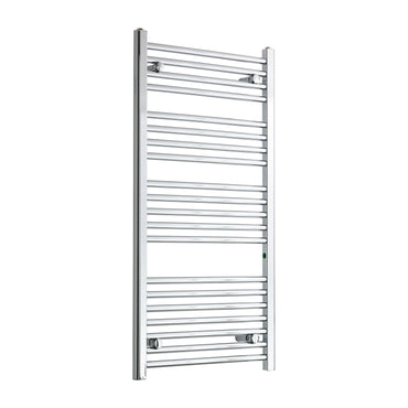 550mm Wide 1100mm High Chrome Towel Rail Radiator