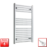 900 mm High 550 mm Wide Pre-Filled Electric Heated Towel Rail Radiator Chrome HTR