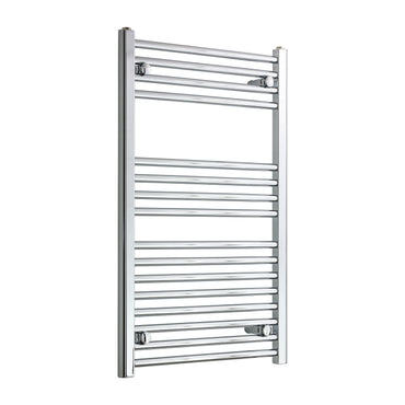 550mm Wide 900mm High Chrome Towel Rail Radiator