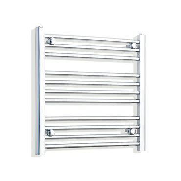 650mm Wide 600mm High Chrome Towel Rail Radiator