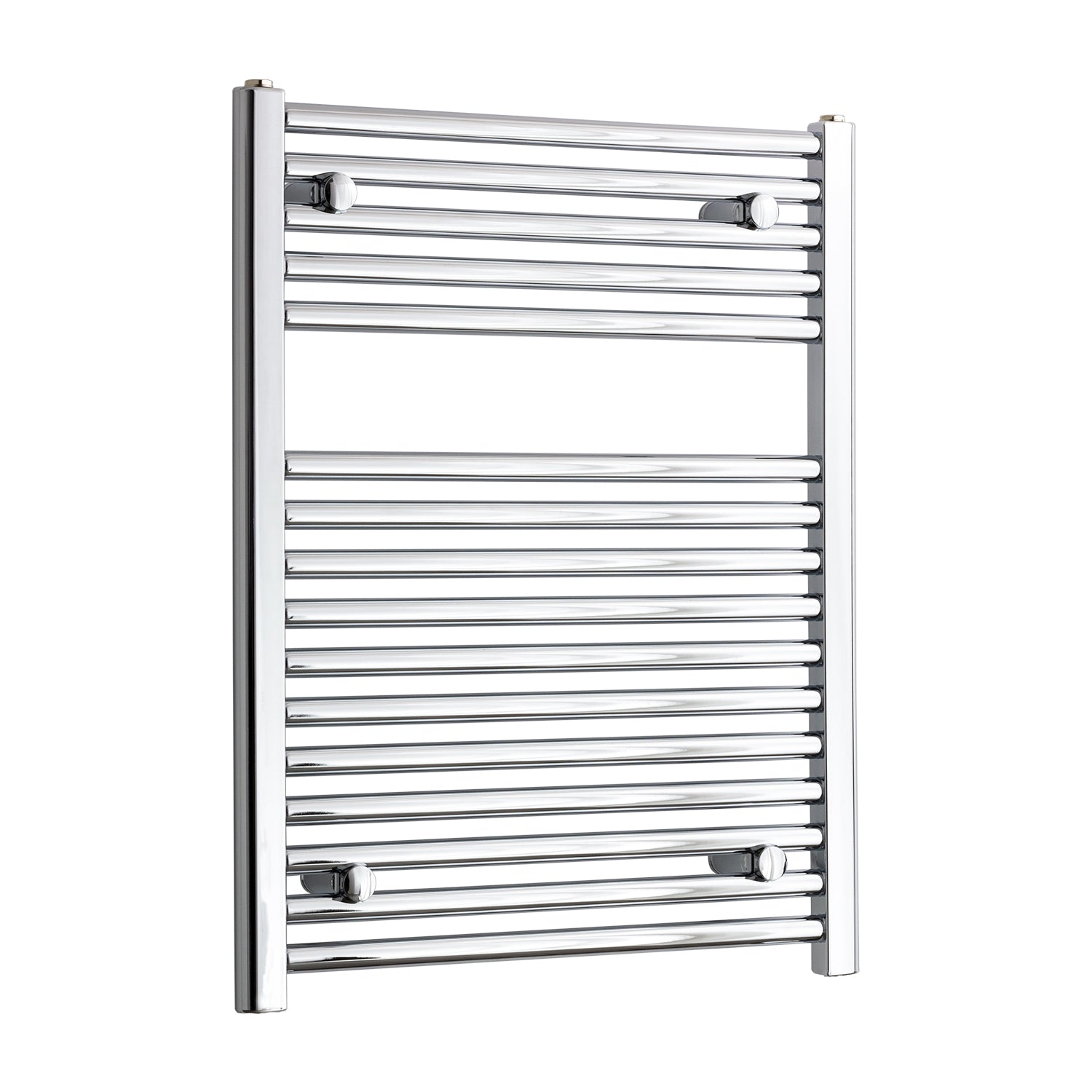 500mm Wide 750mm High Chrome Towel Rail Radiator