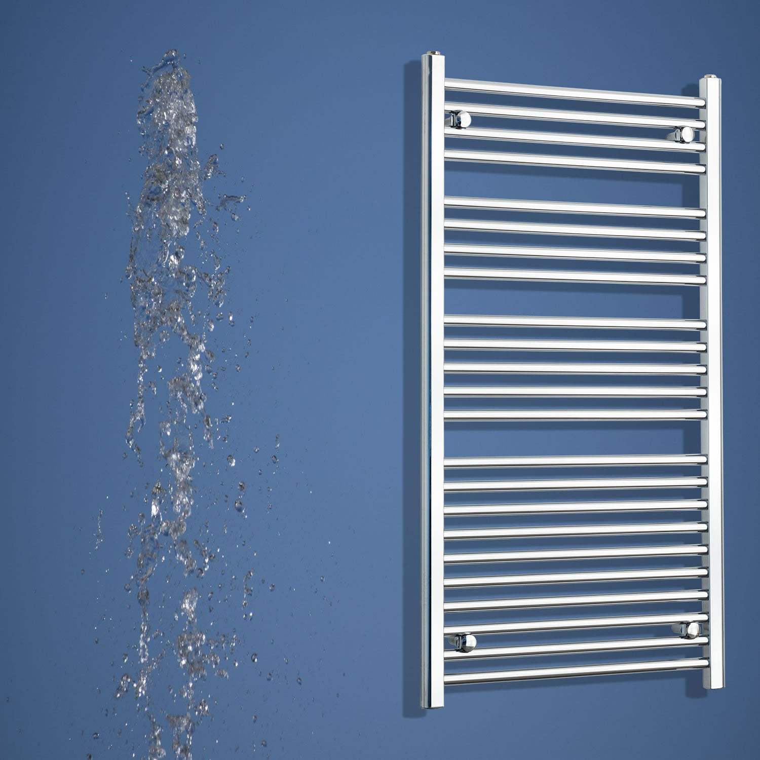 1200 mm High x 700 mm Wide Heated Straight Towel Rail Radiator Chrome