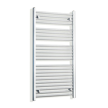 650mm Wide 1200mm High Chrome Towel Rail Radiator