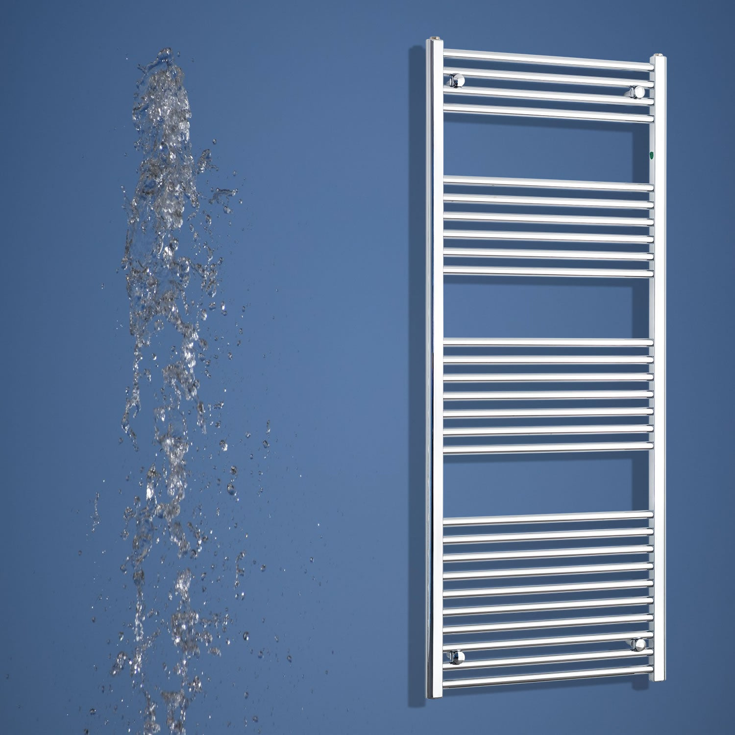 500mm Wide 1600mm High Chrome Towel Rail Radiator