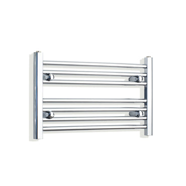 600mm Wide 400mm High Chrome Towel Rail Radiator