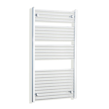 750mm Wide 1300mm High Chrome Towel Rail Radiator