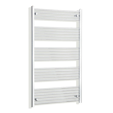 750mm Wide 1400mm High Chrome Towel Rail Radiator
