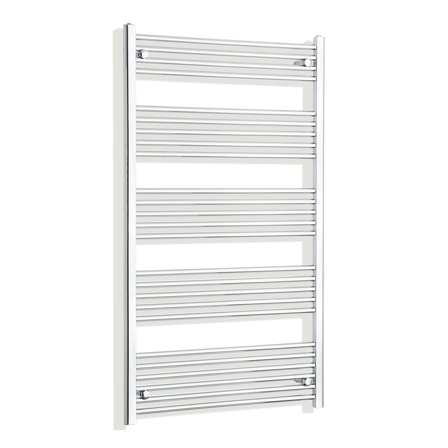 800mm Wide 1400mm High Chrome Towel Rail Radiator
