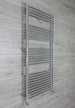 Load image into Gallery viewer, 800mm Wide 1800mm High Chrome Towel Rail Radiator With Angled Valve