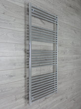 Load image into Gallery viewer, 850mm Wide 1800mm High Chrome Towel Rail Radiator