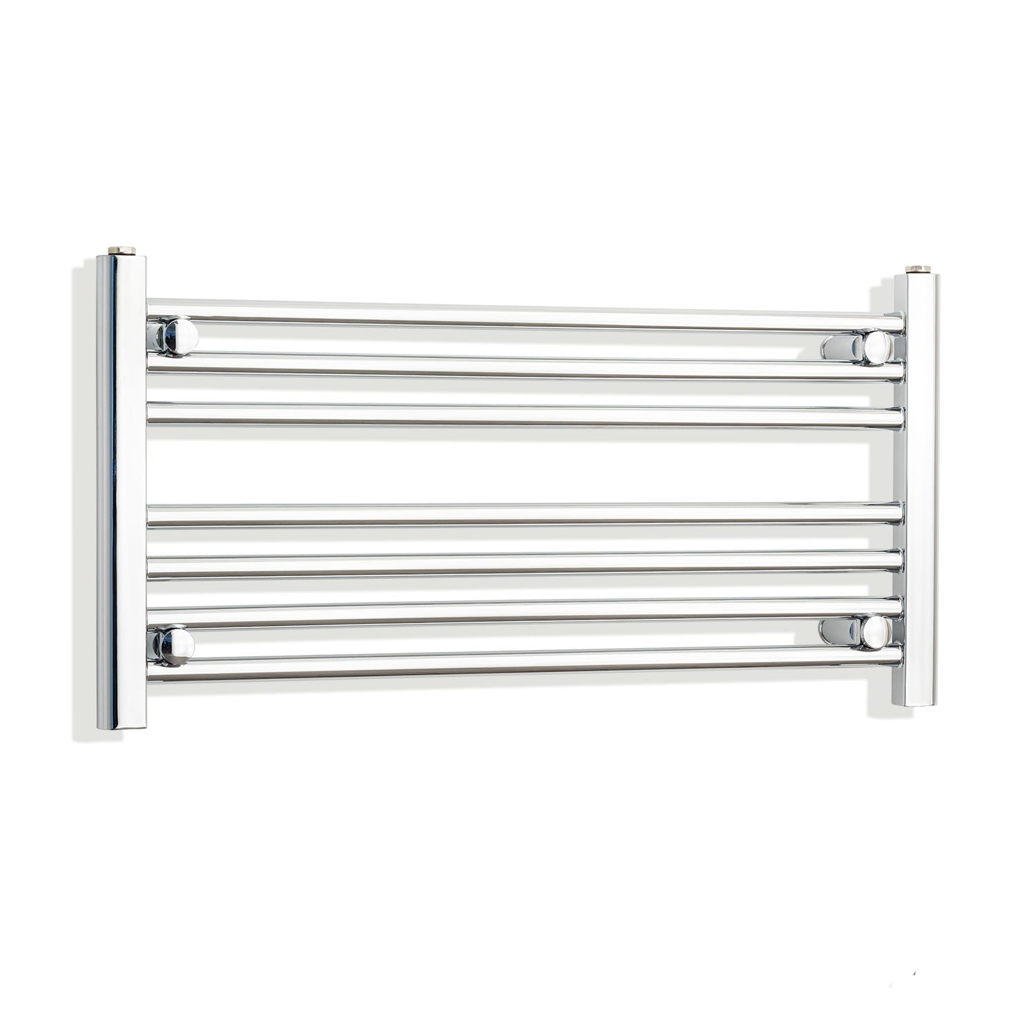 850mm Wide 400mm High Chrome Towel Rail Radiator